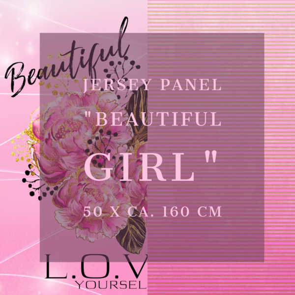 "Jersey Panel ""Beautiful Girl"""