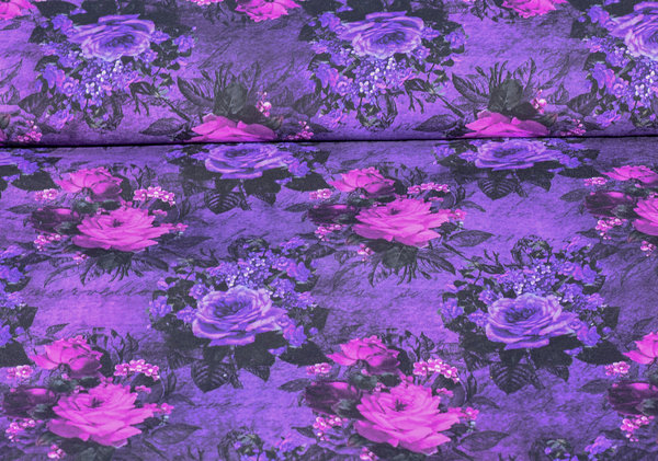 "Bio French Terry ""Floral Poetry Purple"""