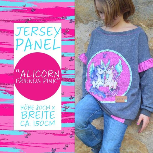 "Jersey Panel ""Alicorn Friends"" Pink"