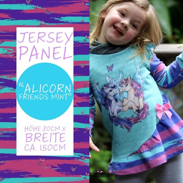 "Jersey Panel ""Alicorn Friends"" Mint"